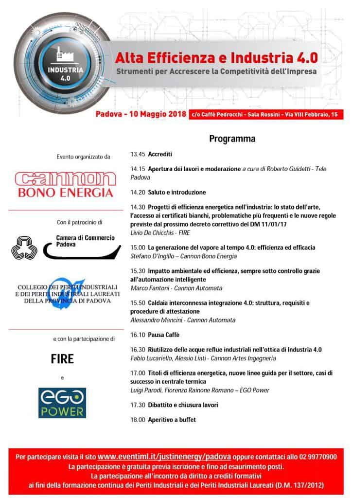 Cannon Group | High Efficiency and Industry 4.0, an event in Padua